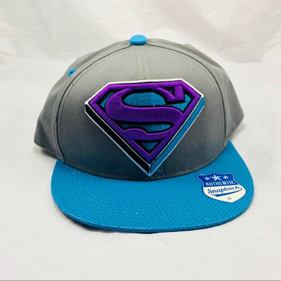 85117eae56727 Snapback Superman Hat DC Comics Warner Bros New